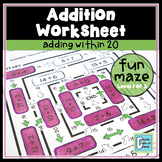 Add Within 20 Worksheet