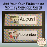 Add Your Own Pictures:  Dotted Month Calendar Headings