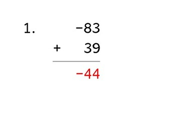 Add a 2-digit number to a 2-digit number with a negative (50 worksheets)