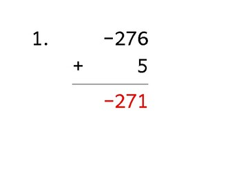 Add a 3-digit number to a 1-digit number with a negative (50 worksheets)