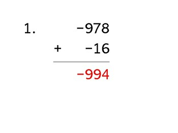 Add a 3-digit number to a 2-digit number with mixed negatives (50 worksheets)