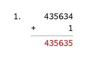Add a 6-digit number to a 1-digit number (50 worksheets)
