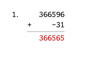 Add a 6-digit number to a 2-digit number with a negative (50 worksheets)