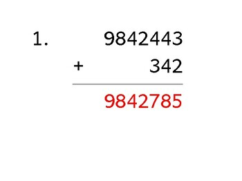 Add a 7-digit number to a 3-digit number with mixed negatives (50 worksheets)