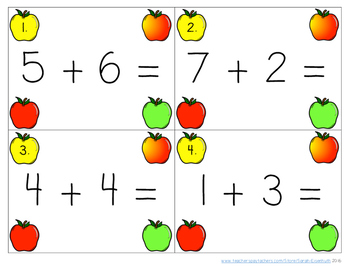Add-a-Dab Apples: an engaging addition activity