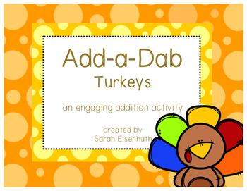 Add-a-Dab Turkeys: an engaging addition activity