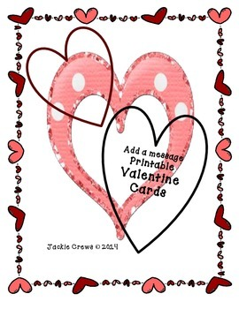 Add a Message Valentine Cards for Students and Teachers (L