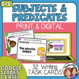 Add a Subject, Add a Predicate Task Cards