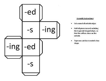 Add a Suffix Board Game
