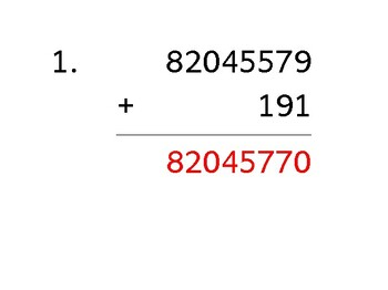 Add an 8-digit number to a 3-digit number with mixed negatives (50 worksheets)