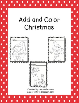 Add and Color Christmas