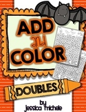 Add and Color Hidden Pictures {Halloween Doubles Facts}