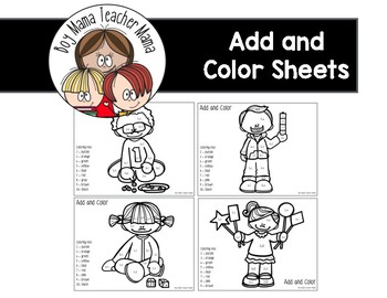 Add and Color Math Students