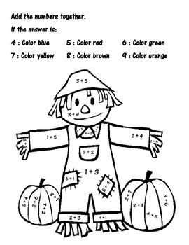 Add and Color-Scarecrow