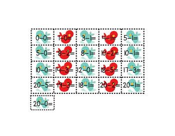 Subtract and Match Bird Eggs 0-20