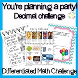 Add and Multiply Decimals Project: You're Planning a Party