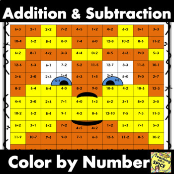 Add and Sub Color by Number / Mustache Man