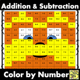 Add and Sub Color by Number / Mustache Man Distance Learning