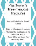 Add and Substitute Sound Puzzles (C-V-C words)