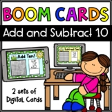 Add and Subtract 10 Boom Cards- Double Digit - Digital Dis