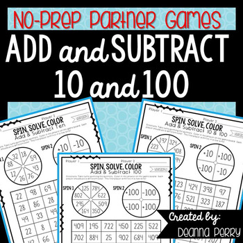 Add And Subtract 10 To A 3 Digit Number Teaching Resources ...