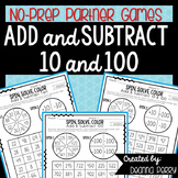 Adding and Subtracting 10 and 100 NO PREP Games