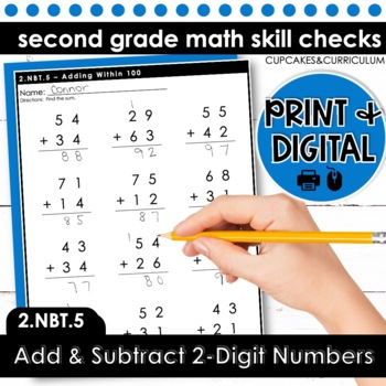 Add and Subtract 2-Digit Numbers | Second Grade Math 2.NBT.5