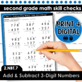 Add and Subtract 3-Digit Numbers | Second Grade Math 2.NBT.7