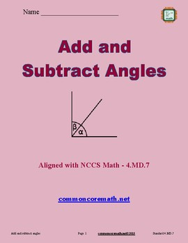 Add and Subtract Angles - 4.MD.7