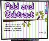 Kindergarten Addition Subtraction SMART BOARD Game