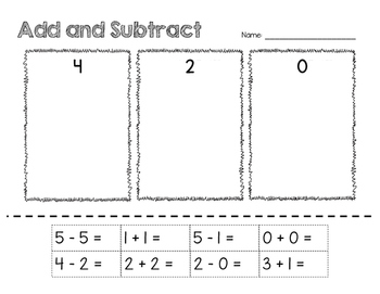 Add and Subtract Cut/Paste
