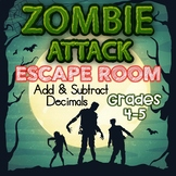Add and Subtract Decimals Digital Escape Room Grades 4 & 5