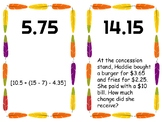 Add and Subtract Decimal Scavenger Hunt