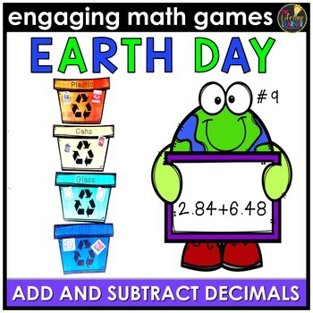 Earth Day Math Game - Add and Subtract Decimals