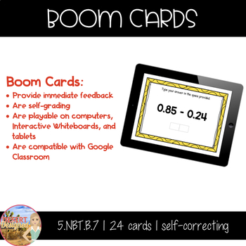 Add and Subtract Decimals - Boom Cards
