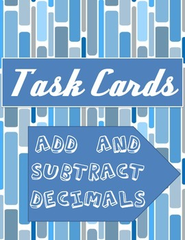 Add and Subtract Decimals Cards