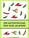 Add and Subtract Decimals Differentiated Task Cards