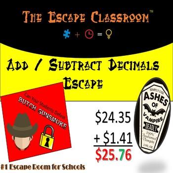 Add and Subtract Decimals Escape Room | The Escape Classroom