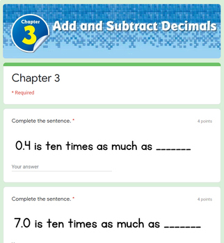 Add and Subtract Decimals - Go Math 5th Grade Chapter 3