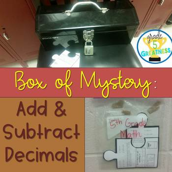 Add and Subtract Decimals Math Mystery