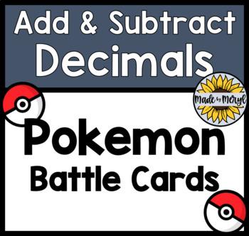 Add and Subtract Decimals POKEMON BATTLE!