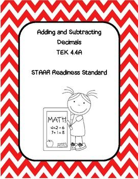 Add and Subtract Decimals TEK 4.4A