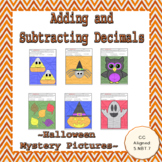 Add and Subtract Decimals to the Hundredth Place Halloween