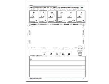 Add and Subtract, Doodle and Write !  Animals within 20 BUNDLE!