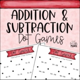Add and Subtract Math Centers: Dot Games