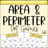 Area and Perimeter Math Centers: Dot Games