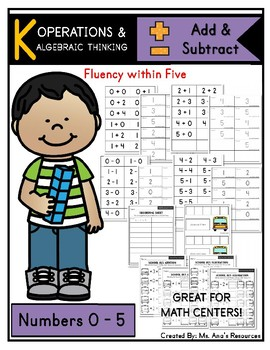 Add and Subtract: Fluency within Five