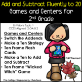 Add and Subtract Fluently to 20 Centers and Games EnVisions Topic 1 - 2nd Grade