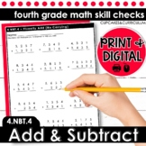 Add and Subtract | Fourth Grade Math 4.NBT.4