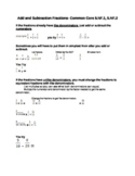 Add and Subtract Fractions 5th Grade